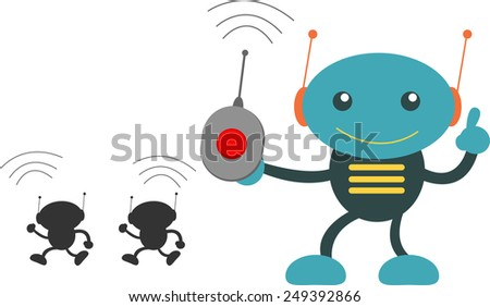 Controlling  - stock vector