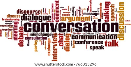 Conversation word cloud concept. Vector illustration