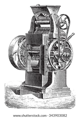 Converter, Ganz system, three cylinders, vintage engraved illustration. Industrial encyclopedia E.-O. Lami - 1875.