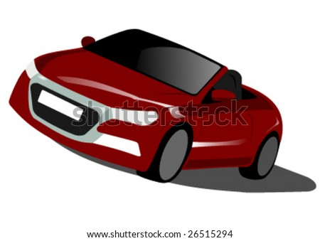 convertible prototype 2 vector illustration