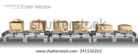 Conveyor Belt. Vector illustration of conveyor belt, Color Series. - stock vector