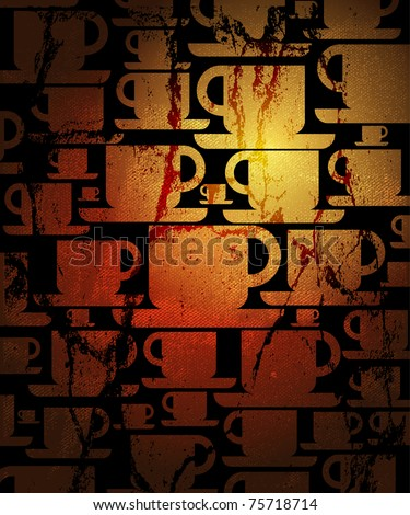 cooffee cup background - stock vector