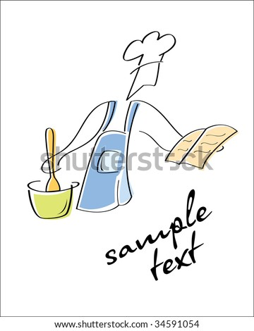Cook. Look through my portfolio to find more images of the same series - stock vector