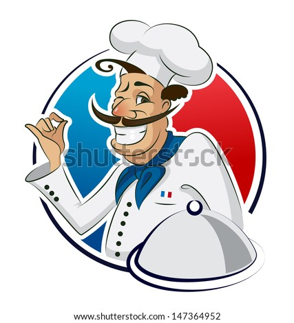 Cook restaurant. Vector illustration isolated on a white background. - stock vector