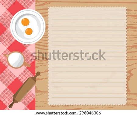 cookbook background, Can be used for cooking, bakery and food recipe background, layout, banner, web design, brochure template.  text can be added. Vector illustration - stock vector