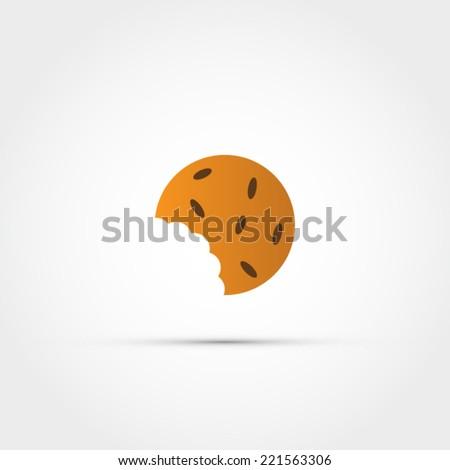 Cookie bite icon - stock vector