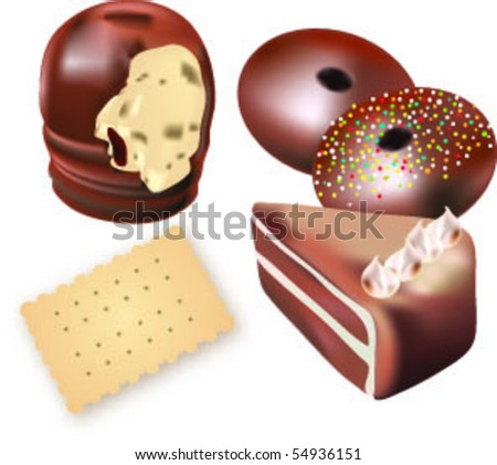 cookies and sweets - stock vector