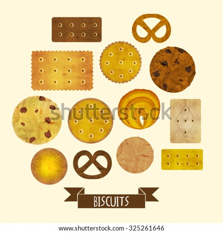 Cookies Vector Design Illustration - stock vector