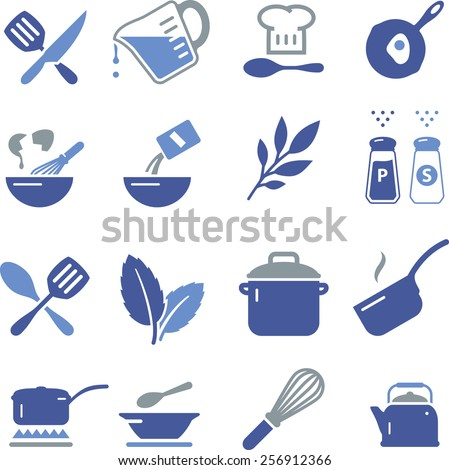 Cooking and baking icon set for you kitchen, restaurant or menu.  - stock vector