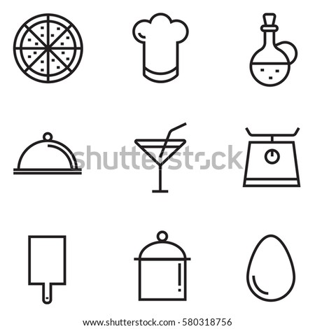 Cooking Clipart Black and White