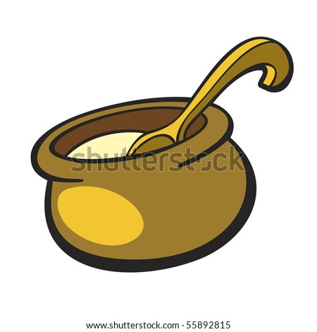 cooking pot illustration - stock vector