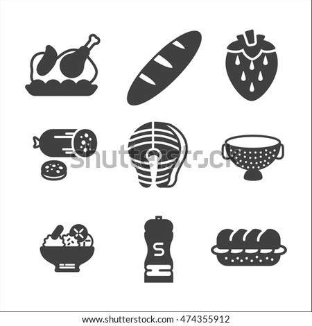 cooking set on white background