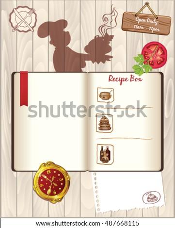 recipes book template