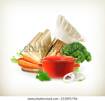 Cooking, vector - stock vector
