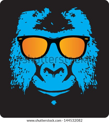 cool ape - stock vector
