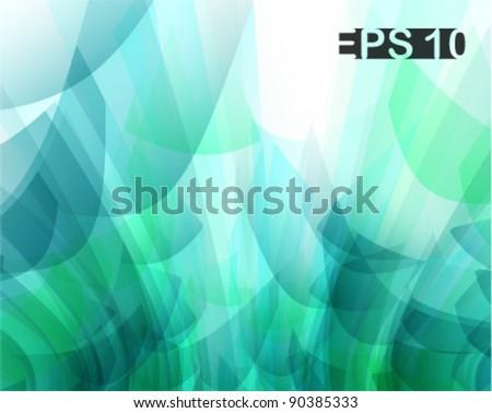 cool aqua concept abstract background - stock vector