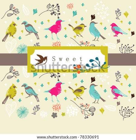 cool card design- best for invitation card- wedding or birthday - stock vector