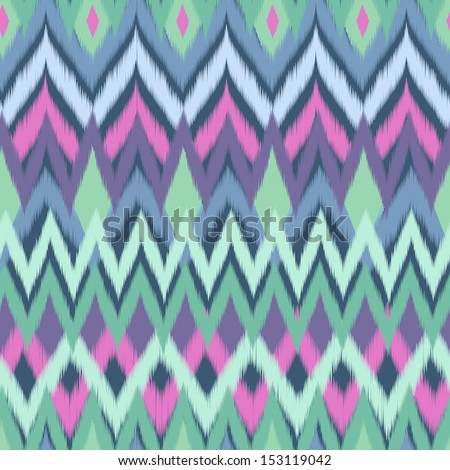 cool color zigzag ~ seamless vector background - stock vector
