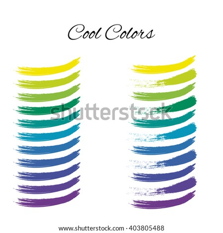 Cool Colors Color Wheel Spectrum Swatches Rainbow