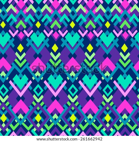 cool geo seamless background - stock vector
