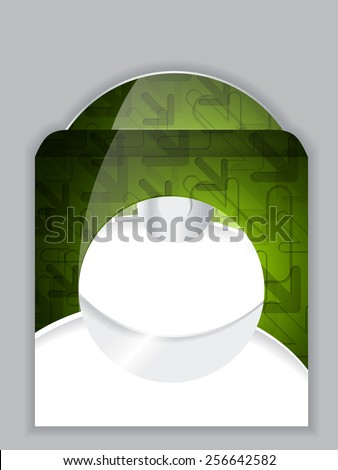 Cool green arrow design disk and sleeve - stock vector