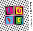 Cool LOVE card - stock vector