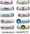 Cool new buttons with various glossy colors for the web - stock vector