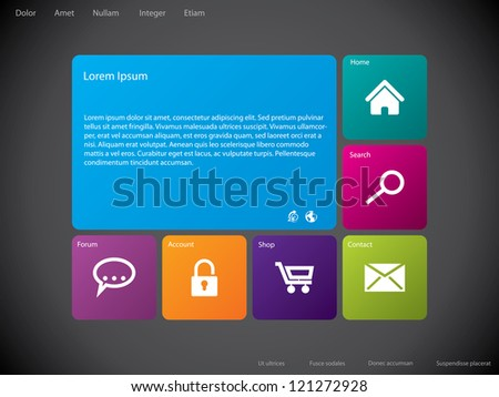 Cool New Website Template Design Large Stock Vector 121272928 ...