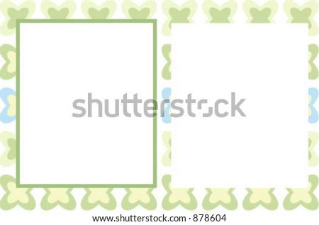 Cool photo card - stock vector