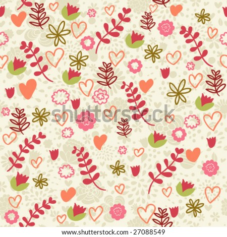cool romantic pattern in vector