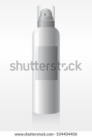 Cool Spray Gray Can Bottle: Paint, Graffiti, Deodorant - stock vector
