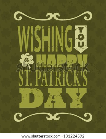 Cool typographic design for St. Patrick's Day. - stock vector