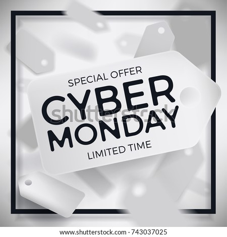 Cool Vector Cyber Monday Banner Promotional Stock Vector HD (Royalty ...