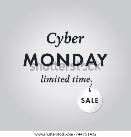 Cool Vector Cyber Monday Banner Promotional Stock Vector 744751432 ...