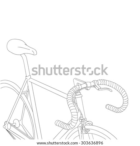 Cool vintage bicycle illustration - stock vector