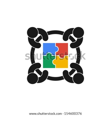cooperation - stock vector