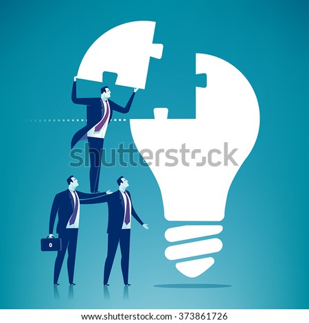 Cooperation. Business concept illustration - stock vector