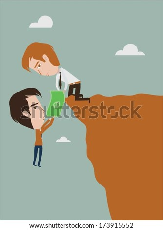 Cooperation concept design - stock vector