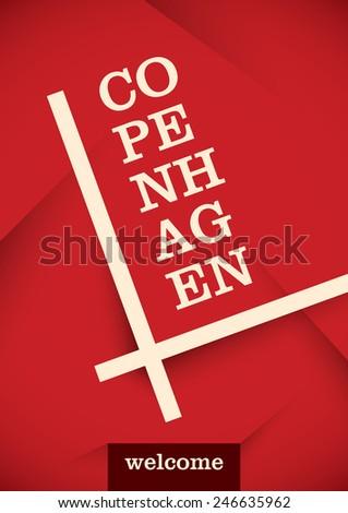 Copenhagen poster design. Vector illustration. - stock vector
