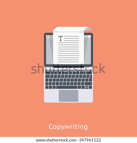 Copy writing icon suitable for info graphics, websites and print media and  interfaces. Colorful flat vector icon. - stock vector