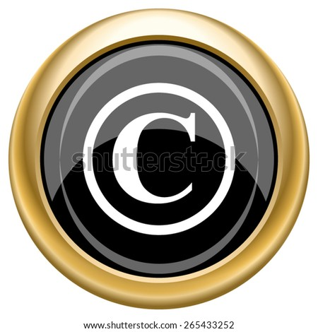 Copyright icon. Internet button on white  background. EPS10 Vector.  - stock vector