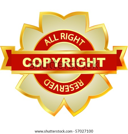 Copyright label for sale. Vector illustration.