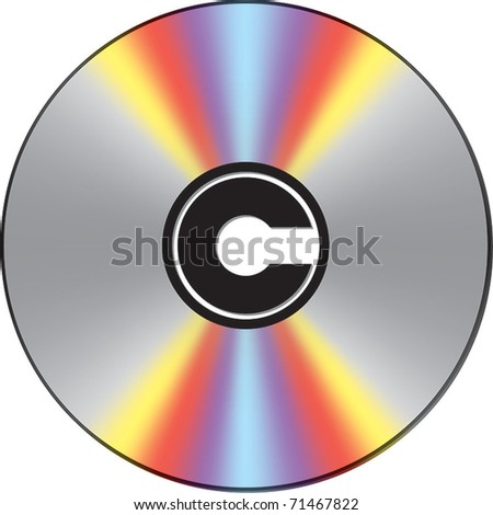 Copyright marked CD - stock vector