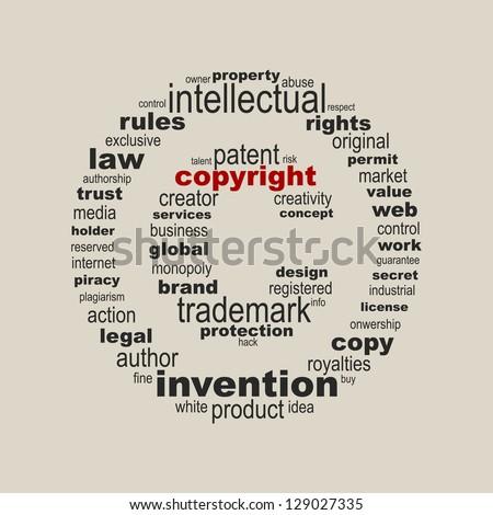 Copyright Symbol Concept Stock Vector 129027335 Shutterstock