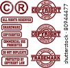 Copyright & Trademark Grunge Stamps - stock photo