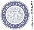 COPYRIGHT. Vector stamp. - stock photo