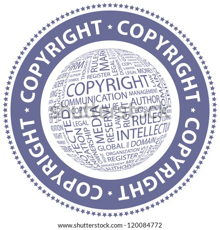 COPYRIGHT. Vector stamp.