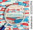COPYRIGHT. Word collage. Vector seamless illustration. - stock photo