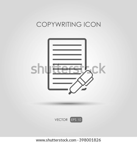 Copywriting icon in linear style. Vector illustration - stock vector