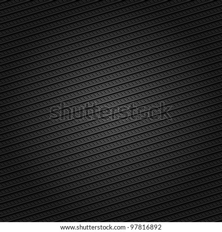 Corduroy black background, dotted lines - stock vector